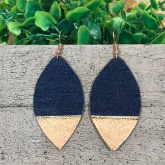 Denim Earrings