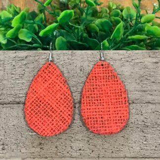 Hessian Earrings