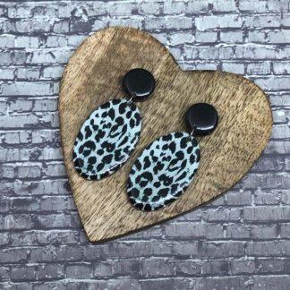 Wood & Resin Medium Drop Earrings